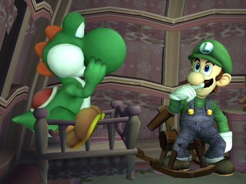 Yoshi and Luigi - What are they thinking?
