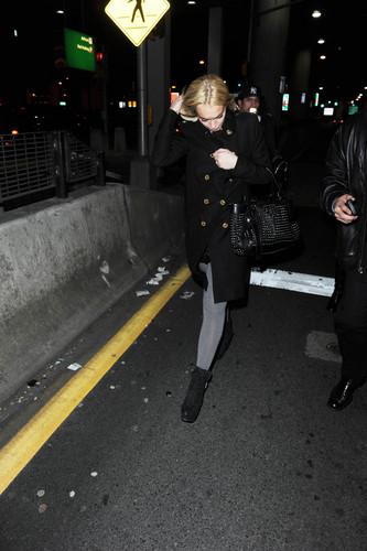 2011-03-13 - arrives at JFK airport