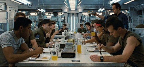 The Alien Films 壁紙 with a brasserie, a ディナー table, and a ビストロ entitled Aliens