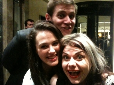 Allen Leech (Branson), Jessica Brown-Findlay (Sybil) and Caitlin Moran