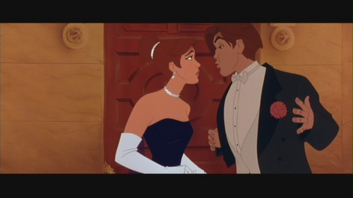 "Movie Couples wallpaper probably with a business suit called Anastasia & Dimitri in ""Anastasia"""