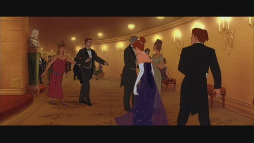 "Movie Couples wallpaper with a business suit titled Anastasia & Dimitri in ""Anastasia"""