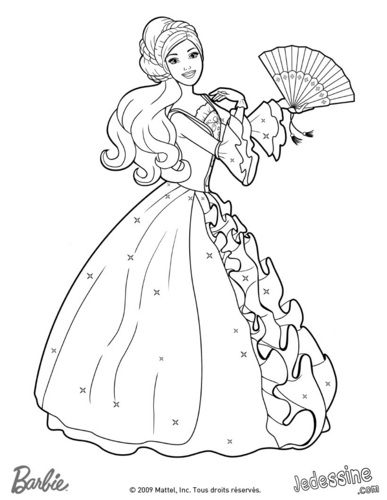 Aramina's weapon- fan- coloring page