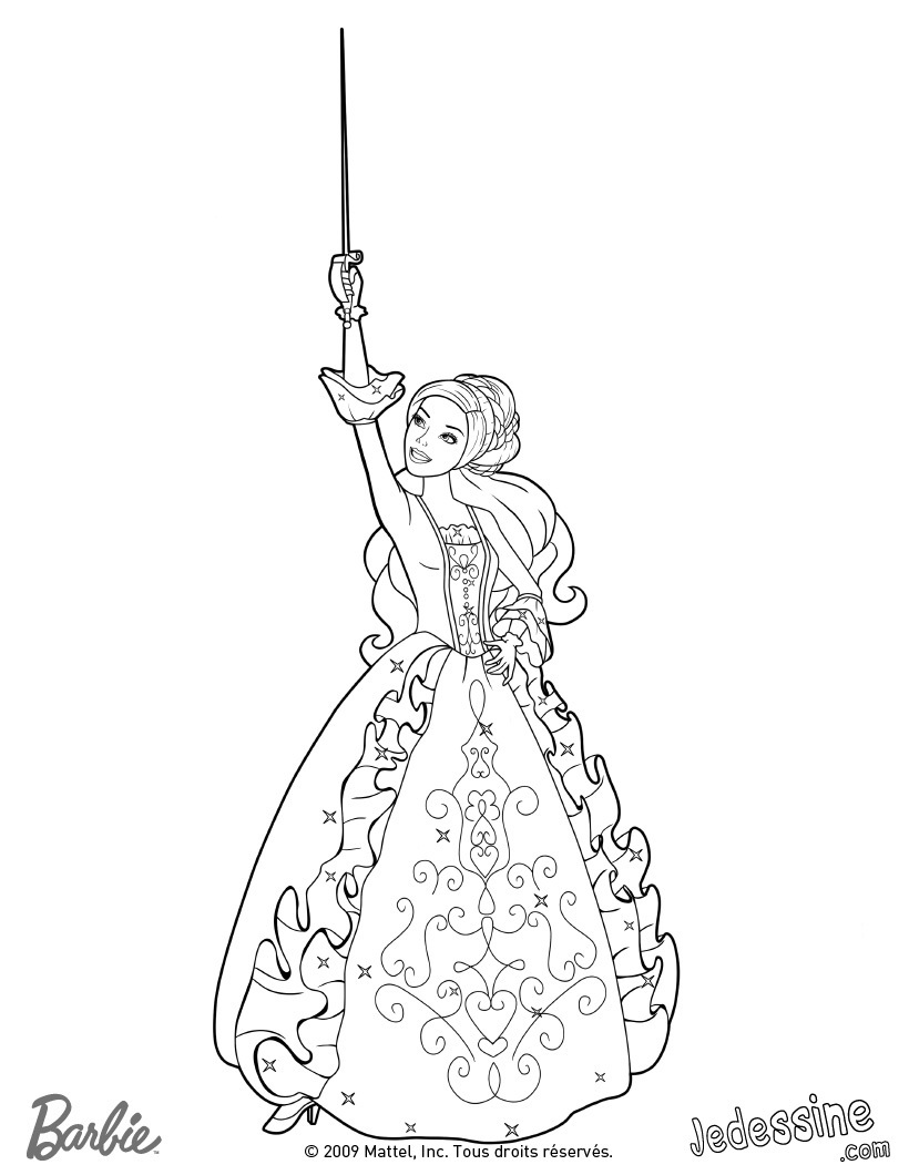 Aramina's weapon- sword- coloring page