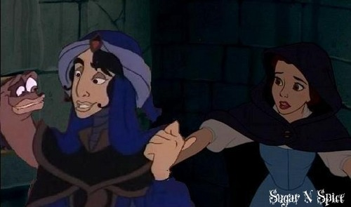 Belle and Mozenrath (My first crossover pic)