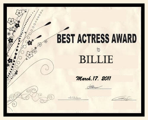 Billie's Award :)))