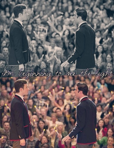 Kurt and Blaine wallpaper called Candles