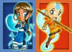 চিবি Katara and Aang