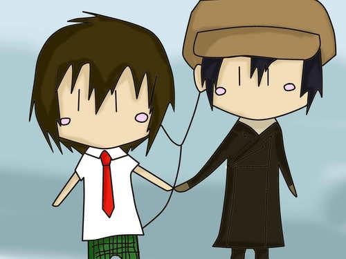 Chibi Miharu and Yoite