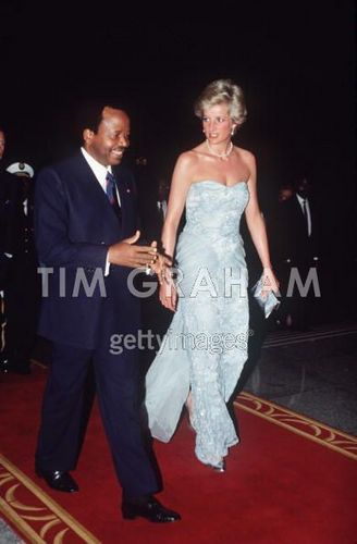 Diana Princess of Wales on a visit to Cameroon
