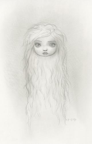 мех Girl Drawing