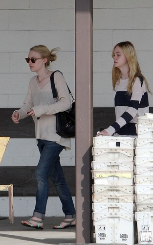 Elle & Dakota Fanning Out in West Hollywood (March 12)