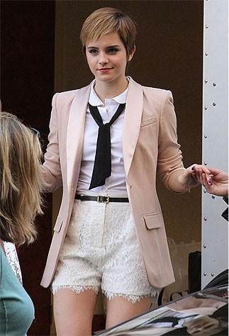 Emma Watson In Paris Filming Lancome Ad Campaign