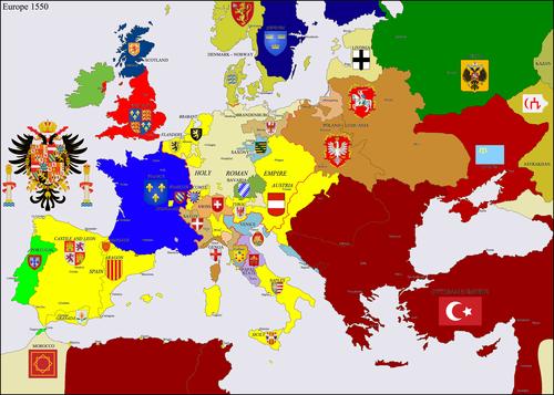 Европа 1550