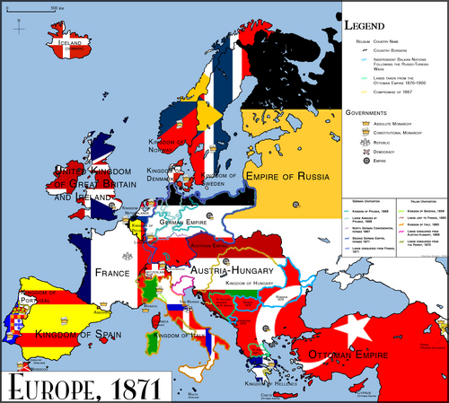 Europe in 1871