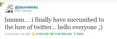 First tweet!