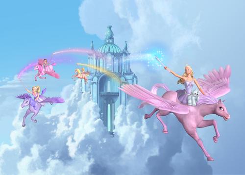 Flying around nube castillo