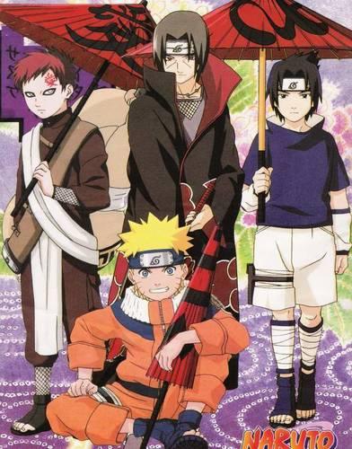 Gaara-Itachi-Sasuke-Naruto