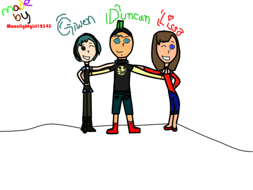 Gwen And Duncan And Me :)