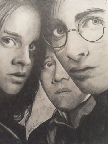 Harry, Hermione, & Ron