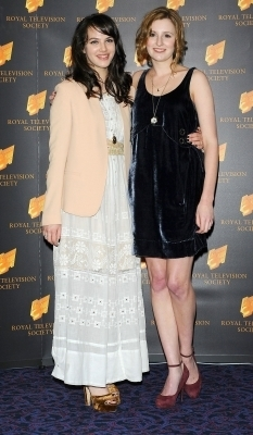 Jessica (Sybil) and Laura (Edith) - downton-abbey Photo