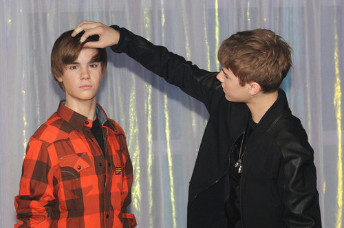 Justin Bieber at Madame Tussauds
