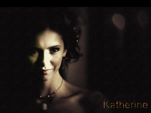 the vampire diaries série de televisão wallpaper probably with a portrait entitled Katherine Pierce ❤