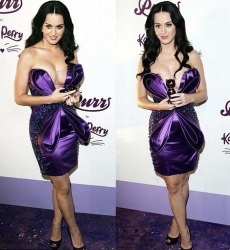 Katy in purple