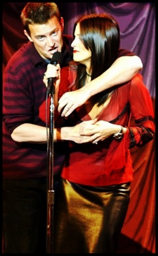 Monica and Chandler wallpaper containing a concert titled Mondler