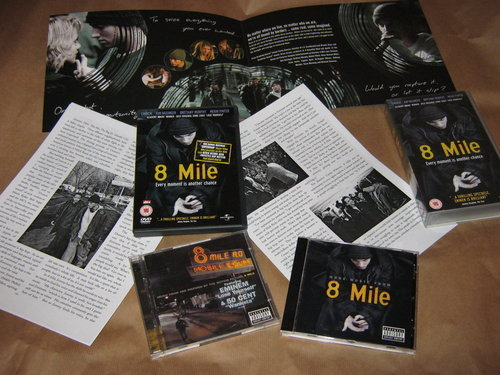 8 mile wallpaper with a cassette tape titled My 8 Mile Collection