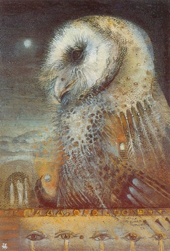 Owls wallpaper titled Owls by Susan Seddon Boulet
