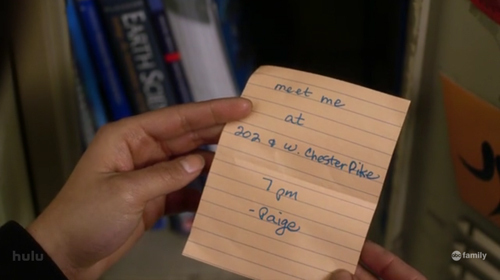 Paige's note