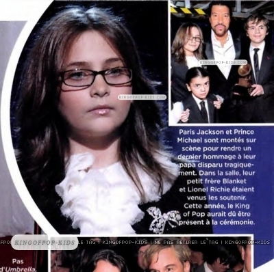Paris Jackson achtergrond titled Pictures Grammy 2010! Paris and Prince,Blamket Jackson*** Love MJ ***