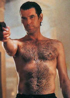 Pierce Brosnan wallpaper with a hunk titled Pierce-Brosnan-Hairy-Chest.