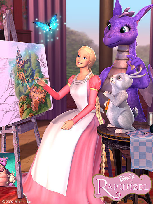Rapunzel, friends& painting