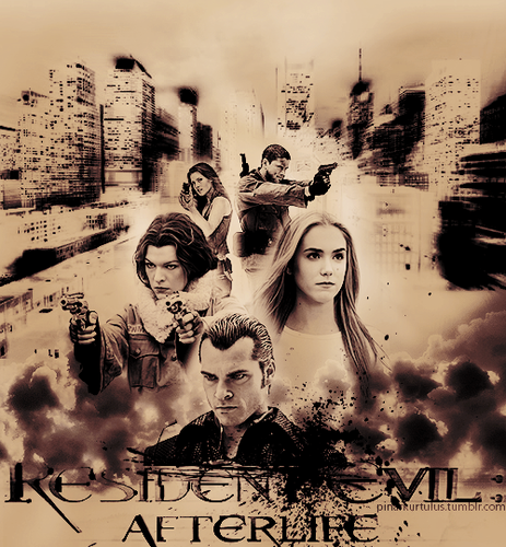 Resident Evil wallpaper possibly containing a bouquet called Resident Evil Afterlife