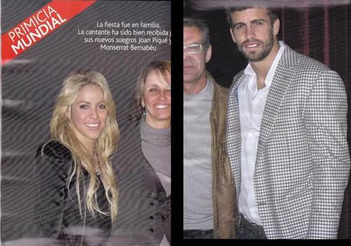 Шакира and Piqué parents !