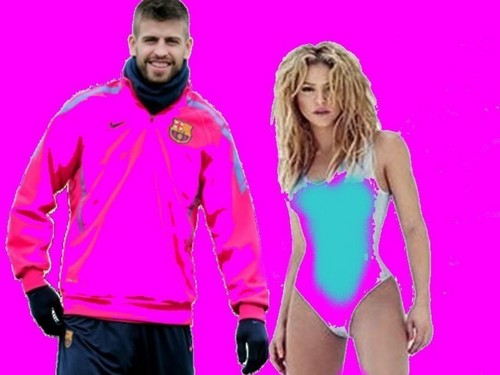 Shakira and Gerard Piqué wallpaper titled Shakira and Piqué: their clothes must colours harmonize