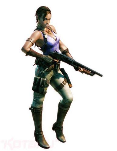 Sheva Official Render -- Sheva With Shotgun