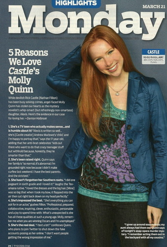 TV Guide: 5 Reasons We Cinta Molly Quinn