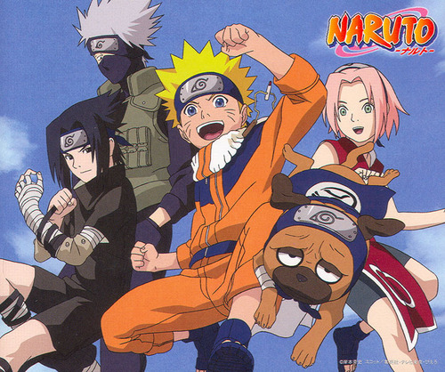 Naruto achtergrond containing anime titled Team 7