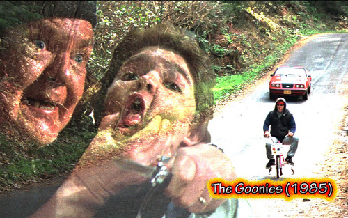 Film wallpaper probably containing a strada, via titled The Goonies ( 1985)