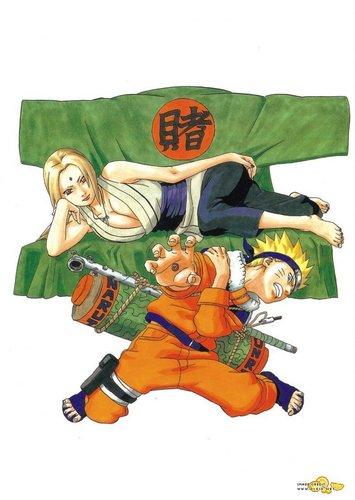 Tsunade and Naruto