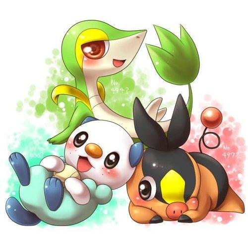 Unova Pokemon Starters
