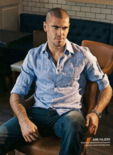 Valdes in fashion shoot