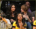 Vanessa & Emily Browning @ LA Lakers Game