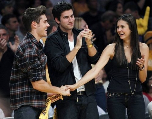 Zac Efron with Nina Dobrev & Ian somelander