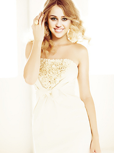miley cyrus wallpaper probably containing a makan malam dress, a gown, and a strapless entitled cute miley!
