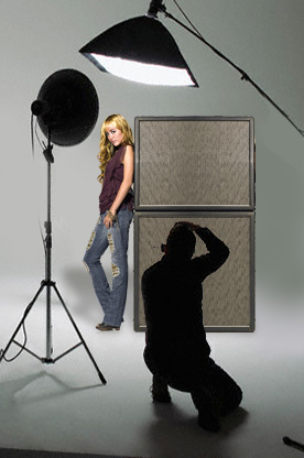 hannah is getting ready to take her picture