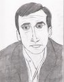 my drawing of Steve Carell